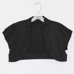 💘 Maurices Women's Jacket Bolero Shrug Black M